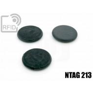 Dischi RFID fibra vetro NFC NTAG213