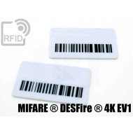 Targhette RFID rettangolari NFC MIFARE ® DESFire ® 4K EV1