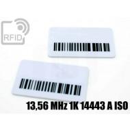 Targhette RFID rettangolari 13,56 MHz 1K 14443 A ISO