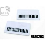 Targhette RFID rettangolari NFC NTAG203