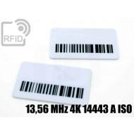 Targhette RFID rettangolari 13,56 MHz 4K 14443 A ISO