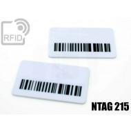 Targhette RFID rettangolari NFC NTAG215