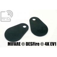Etichette RFID fibra vetro NFC MIFARE ® DESFire ® 4K EV1