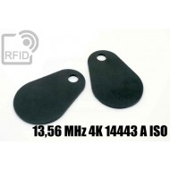 Etichette RFID fibra vetro 13,56 MHz 4K 14443 A ISO