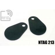 Etichette RFID fibra vetro NFC NTAG213