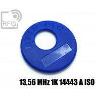 Disco RFID prodotti appesi 13,56 MHz 1K ISO 14443 A