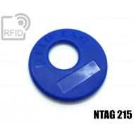 Disco RFID prodotti appesi NFC NTAG215 1