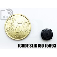 Tag circolare RFID miniaturizzato ICODE SLIX ISO 15693