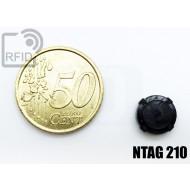 Tag circolare RFID miniaturizzato NFC NTAG210