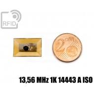 Tag RFID film 12 x 18 mm 13,56 MHz 1K 14443 A ISO