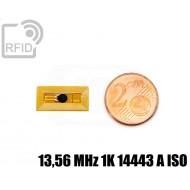 Tag RFID film 9 x 18 mm 13,56 MHz 1K 14443 A ISO